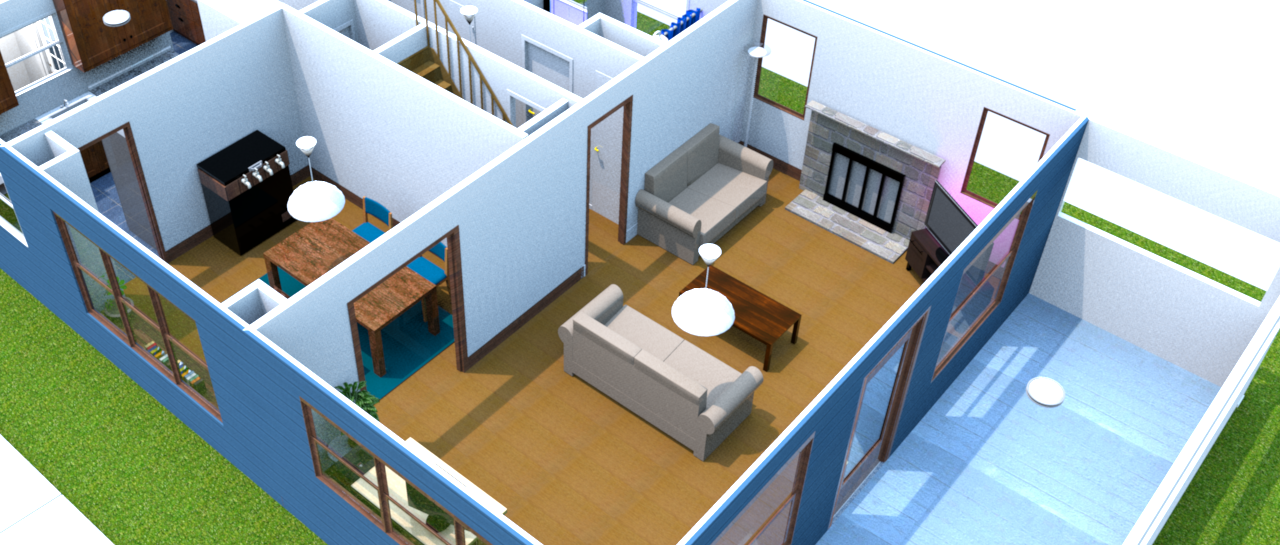 3D Rendered Floorplan
