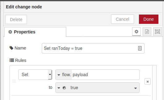 Change Node Flow Variable